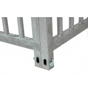 grille barreau espace 8cm  / 2m avec porte
